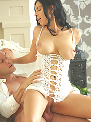 Kira Queen sensually making love to her boyfriend