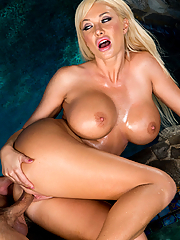 Summer Brielle slides the pool boy's cock into her pussy