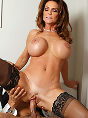 Deauxma loves the butler's big cock and pulls it out to play with