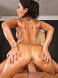 Asa Akira enjoys her masseur's sensual massage technique