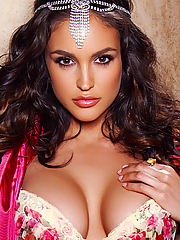 Jaclyn Swedberg busty princess strips nude in the medieval castle
