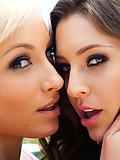 Gracie Glam and Lexi Swallow getting lost in lesbian lust