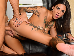 Bonnie Rotten meets with the head of the homeowner's association for various complaints from her neighbors. Bonnie decides the best way to take care of these complaints, is to fuck the head of the association.