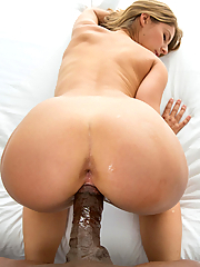 Presley Hart gets her pussy drilled by his big black cock