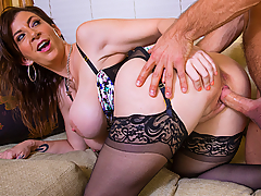 Johnny got passed up for a promotion at work and doesn't think it's fair so he goes to complain to his boss, Sara Jay. Sara is willing to promote his as long as he works long and hard... or at least works her pussy long and hard!