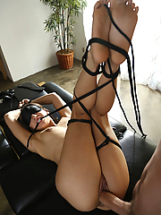 Sara Luvv enjoys kinky sex while being bound and blindfolded