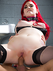 Amber Ivy gets bound and boned in the dungeon