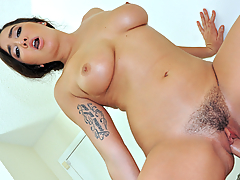 Karlee Grey's boyfriend just got a new camera that can film underwater, and her big natural tits are the perfect subject for his first wet and wild shoot. All the attention got this spicy Latina hot enough to fuck her man until she was covered in cum!