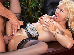 Sarah Vandella operates a webcam show while at work. She teases and masturbates in front of the cam. As co-workers stop by her office, she acts as if nothing's going on. That is, until her boss, Ramon, catches her in the act on his own laptop. He then calls in the naughty employee to his office to let her know that she's not the only one who likes to mix business with pleasure!