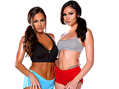 Watch a free Twistys lesbian video preview starring Abigail Mac and Ariana Marie!