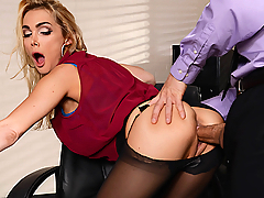 Devon puts in long, hard hours working as a secretary for multiple businessmen. She brings them coffee, answers their phones, lets them play with her huge tits, and sucks their cocks like a pro. It's not an easy job, but somebody has to get fucked.