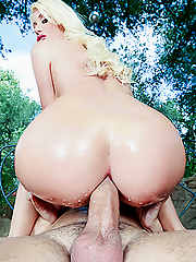Riley Jenner gets her plump butt banged in the wild open nature