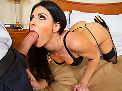 Chad White is the new property manager at the apartment complex, and he finds out that India Summer hasn't paid her rent in a few months. Apparently she had a deal with the old property manager... she would fuck him in exchange for free rent. Now that the old manager is gone, it looks like she will have to strike a similar deal with Chad...