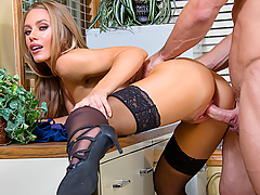 Johnny walks in on his teacher, Nicole Aniston, and is ready to fuck her. They have fucked before, but Nicole strictly prohibits it while she's at work. Johnny can't help himself though and convinces Nicole to lock the door and take his cock in her classroom!