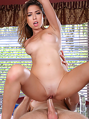 Melissa Moore devours a tasty cock in the kitchen