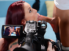 A nymphomaniac porn director by the name of Monique Alexander is consistently hungry for some big cock to suck and fuck. She often can't help but want to jump in on the sexy times she films. While in the middle of shooting her next great sex scene, a strange visitor from her past appears on her set. But before she can have a word with him, she'll have to step in front of the camera when her porn star can't perform. But for such a horny slut, fucking for fun has never been an issue!