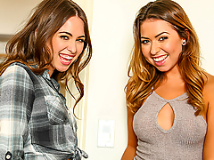 The only thing better than Riley Reid is two Riley Reids, or in this case Riley Reid and Melissa Moore. These lookalikes love to play tricks on Keiran almost as much as they love to share his big cock. They've got him seeing double with their cute faces, tight bodies, perky tits and endless appetites for hot sex!