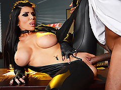 Sexy assassin Romi Rain has blown and shot her way out of two sticky situations in one night, and now she wants a reward from her boss Stallion. He wants nothing to do with her, but she's never had trouble seducing this married man in the past. He gives her the hard, rough fucking she craves, followed by her next mission.