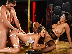 Allie Haze has to work with Romi Rain, the assassin who took her girlfriend's life. Posing as horny strippers, these two hot killers get close to mobster Toni Ribas... but for Romi, it might be too close...