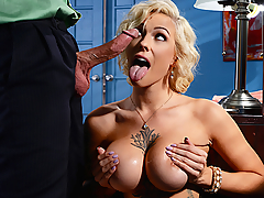 Harlow Harrison is a big-titted employee at an office where she can't stop thinking about her boss Bill Bailey. Harlow can't get through any of her work because she's too busy flirting with her boss to be able to concentrate. But while her sexual fantasies seem to be getting the best of her, this busty slut doesn't realize that her boss finds her behavior to be unprofessional. Will her obsessive cum-pulsive disorder get her fired, or will the big breasted Harlow's workplace sexual fantasy come to fruition and get the dicking she's been craving?