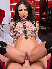 Anissa Kate dominates a guy in her dungeon