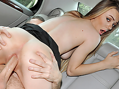 Molly Mae's first date turned into a sex tape pretty quick after she and her new man hopped into a car with no money to pay their fare. Lucky for them, the driver is a pervy voyeur, who'll give them a free ride if they fuck for his viewing pleasure.