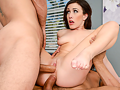 Jennifer White and her man go see someone to help them with their sex life. They realize what they need to spice it up is a threesome. Luckily their sex expert is happy to join them.