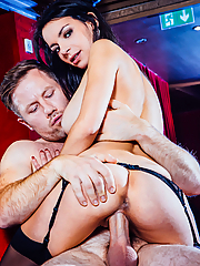 Sophia Laure devours the business man's huge dick