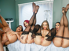 Johnny Sins has been in a coma for months, unaware the apocalypse has wiped out every other man on earth. Dr. Anna Bell Peaks, Dr. Romi Rain, Dr. Nicole Aniston and Dr. Rachel Starr have dedicated their time and expertise nursing him back to health, each secretly hoping she will be the one to enjoy his big dick when he finally wakes up. With no other man alive to fuck their tight pussies, these bombshell doctors will have to fight it out for the last dick on earth!