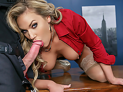 Ever wonder how to fuck at the office without getting caught, either by your nosy co-workers or a candid camera? Well, renowned office slut Olivia Austin gives you horny office employees a How To explanation for getting down and dirty at the workplace. She'll happily walk you through the do's and don'ts as her big titties bounce while she rides Charles Dera's dick!