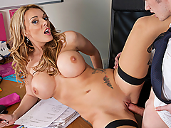 Stacey Saran is tired of tutoring her student. She would much rather just fuck him.