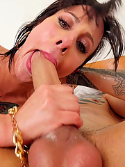 Dollie Darko takes a dildo and a hard shaft up her ass