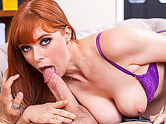 Penny Pax stops by to visit her friend, unfortunately her friend is out. Penny really wanted to try on her new bra and panties for her friend. Lucky for Penny, her friend's boyfriend is hanging around and he's more than happy to give Penny a hand. Modeling for her friend's boyfriend turns Penny on, and she ends up riding his dick!