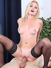 Inga Victoria sucks and fucks her boss in his office
