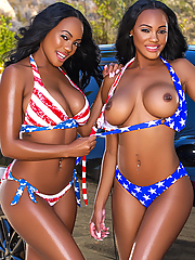 Brittany Kelly and Brandi Kelly go wet and wild at the car wash