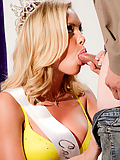 Nicole Aniston demonstrates her unique talents at the beauty pageant