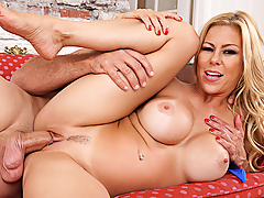 It's pool party time and Alexis Fawx is wet and wild for her friend's husband again. She sneaks away from the pool to catch the guy alone and seizes the opportunity to ride his cock again!