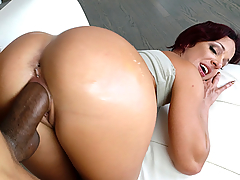Are you ready for Jada Stevens and her beautiful big ass? Jada teases us outside for a bit before she walks inside to start please a hard cock. We see her giving one hell of a good sucking before she starts bouncing her big ass on it. They end up fucking on multiple ass bouncing positions until she makes the cock explode jizz all over her perfect butt!