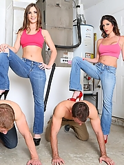 Dava Foxx and Molly Jane cuck humiliation