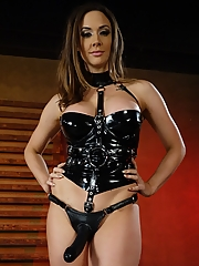 Mistress Chanel Preston loves drilling her strap-on cock deep into her slave's ass