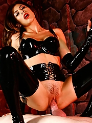 Mistress Heather Vahn uses her slave for her sexual pleasure, first fucking him, then making him worship her pussy.