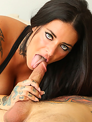 Raquel Adan gets her juicy pussy stuffed by a tattooed stud
