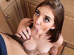Blaire Ivory is hanging out at her friend's house when her friend's brother walks in. She's always catching her friend's brother checking her out, so she decides that today is the day she finally gives him what he's been wanting... her pussy!