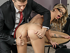 Jessa Rhodes can't stop fucking up at her new job. When CEO Xander sees her on her hands and knees cleaning up her latest mess, things are about to get a whole lot messier... Jessa can't say no to cock belonging to such a powerful man, and he can't stay away from her big, wet tits. When Jessa's boss discovers the horny duo fucking behind the fridge, Jessa realizes that fucking up on the job has its benefits!
