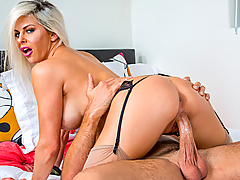 Rachel Roxxx just found out that her friend's husband finds her attractive. So, while Rachel's friend is away, she seduces her husband and has him cum all over her!