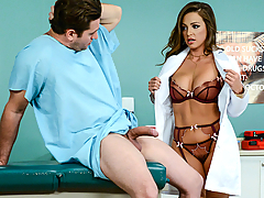 Dr. Abigail Mac is always professional, but it's hard for this hot doc to resist a big cock. Preston Parker's boner refuses to go down, but lucky for him, Abigail will. If that doesn't work, maybe her tight pussy will give him some relief...