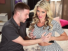 Having fucked on-camera for the first time in the photo set, hot MILF Tylo Duran returns to fuck on-video for the first time. What did Tylo think about her first fuck? I loved it! she said. I'll never forget my first. Tylo is a hot blonde, and she was pointed in our direction by another hot blonde, Raquel Sultra. Thanks, Raquel! She felt I would be good, so I submitted pictures, Tylo said. Tylo was good, very good. The big load that Tony shoots all over her pretty face is proof of that!