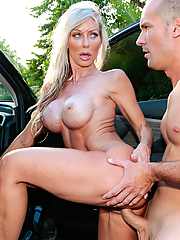 Tylo Duran busty driving instructor rides her student's dick