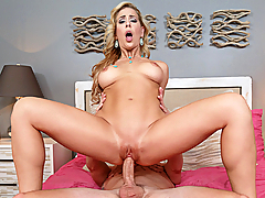 Cherie Deville is at home and gets a call from her friend saying she won't make it over because of work. She gets a surprise visit from her friend's son, and the cougar that she is, can't keep her horny paws off of him.