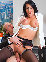 Candi Kayne fucks one of her dad's employees in his office